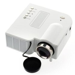 S4 LCD Image System Multimedia LED Projector (White)