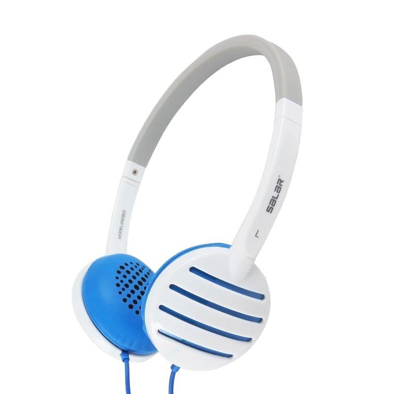 Salar EM310i Over-The-Ear Headphones (White/Blue) - thumbnail
