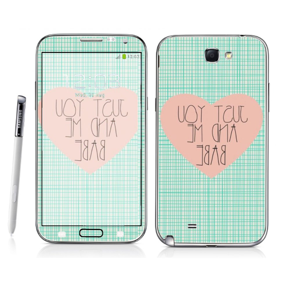 Samsung Galaxy Note 2 Just You and Me Skin by Oddstickers product preview, discount at cheapest price