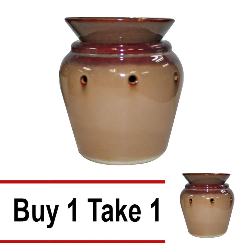 Scent Warmer Vase (Brown/Beige) Buy 1 Take 1 product preview, discount at cheapest price