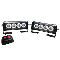 Sec 00733  2 x 4W LED Strobe Light Bar Red of Blue