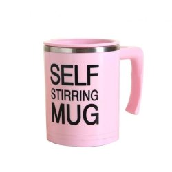 Self Stirring Mug (Pink)