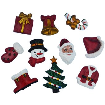Christmas Decor Santa Claus 10pc Refrigerator, Memo magnet gifft (holiday decors by Everything About Santa )