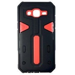 Shockproof Hybrid Case for Samsung Galaxy J5 (Black/Red)