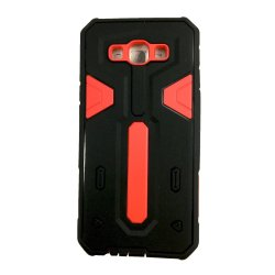 Shockproof Hybrid TPU Case for Samsung Galaxy J2 (Black/Red)