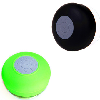 Silicone Bluetooth Speaker Set of 2 (Black/Green)
