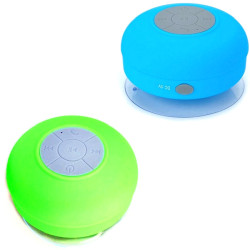 Silicone Bluetooth Speaker Set of 2 (Blue/Green)