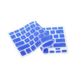 Silicone Keyboard Cover Skin for Macbook Air Pro MAC 13/15/17/Air 13 (Blue)