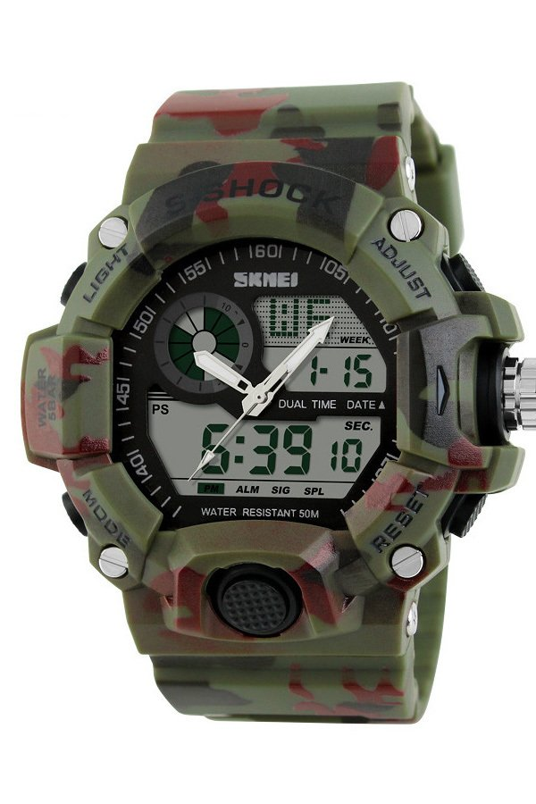 SKMEI 1029 Digital Watches (Green Camouflage)