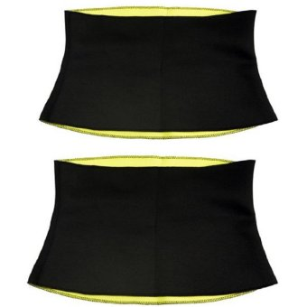 Slimming Waist and Abs Belt Trimmer-Cincher Girdle for Weight Loss-Thermo Sweat Neoprene Shaper Set Of 2
