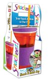 Snackeez 2 in 1 Snack and Drink Cup (Orange/Violet) - thumbnail 2