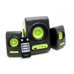 Sonic Gear Quatro V USB 2.1 SDU Speaker with Subwoofer Black/Green