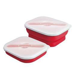Space Saving Collapsible Small Lunch Box (Maroon)