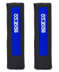 Sparco SPC1201XL Shoulder Pad, Set of 2 (Black/Blue)