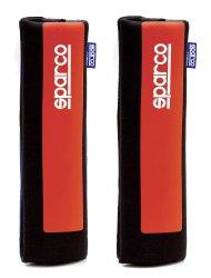 Sparco SPC1203 Shoulder Pad, Set of 2 (Black/Red)