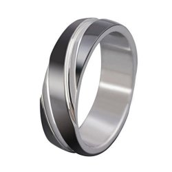 Stainless Steel Men's Rings Bands Twills Smooth  (Intl)