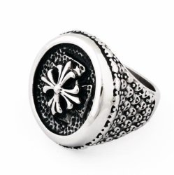 Stainless Steel Vintage Round Biker Celtic Cross Mens Ring (Intl)