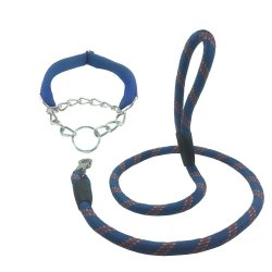 Stretchable Puppy Dog Leash Harness 120 cm. (Blue)