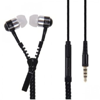 Super Bass Zipper In-Ear Earphones (Black) - picture 2