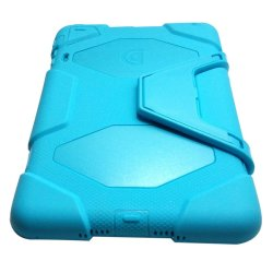 Military Shockproof Case with Stand for iPad Mini (Aqua Blue)