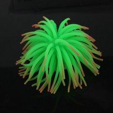 SW Silicone Aquarium Fish Tank Decor Artificial Coral Plant Underwater Ornament NEW Green (Intl)