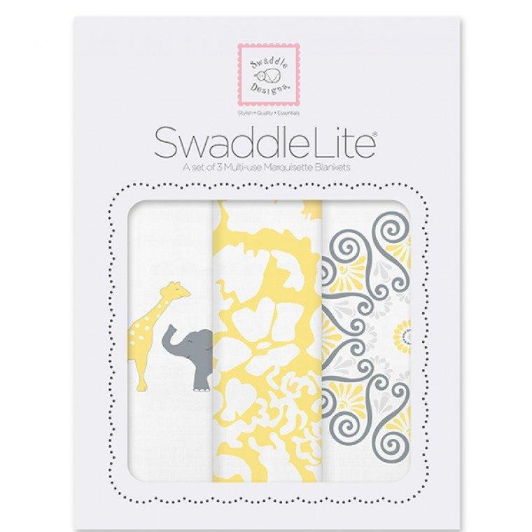 Swaddle Designs Lush Swaddle Lite Set of 3 (Yellow) - thumbnail