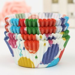 Sworld 100Pcs Colorful Paper Cake Chocolate Liner Baking Muffin Cup Wrappers (Intl)