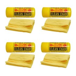 Synthetic-Chamois Clean Cham Wash Cloth SET of 4