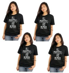Tanshirts All Monsters Are Human Tee (Black) Set of 4