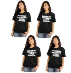 Tanshirts Appreciate Everything Tee (Black) Set of 4