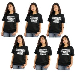 Tanshirts Appreciate Everything Tee (Black) Set of 6