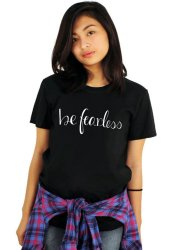 Tanshirts Be Fearless Tee (Black)