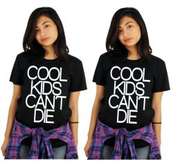 Tanshirts Cool Kids Can't Die Tee (Black) Set of 2