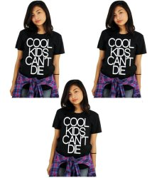 Tanshirts Cool Kids Can't Die Tee (Black) Set of 3