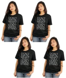 Tanshirts Don't Hate Tee (Black) Set of 4