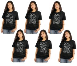 Tanshirts Don't Hate Tee (Black) Set of 6