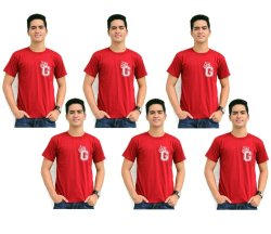 Tanshirts King's Initial G Tee (Maroon) Set of 6