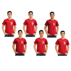 Tanshirts King's Initial P Tee Set of 6 (Maroon)