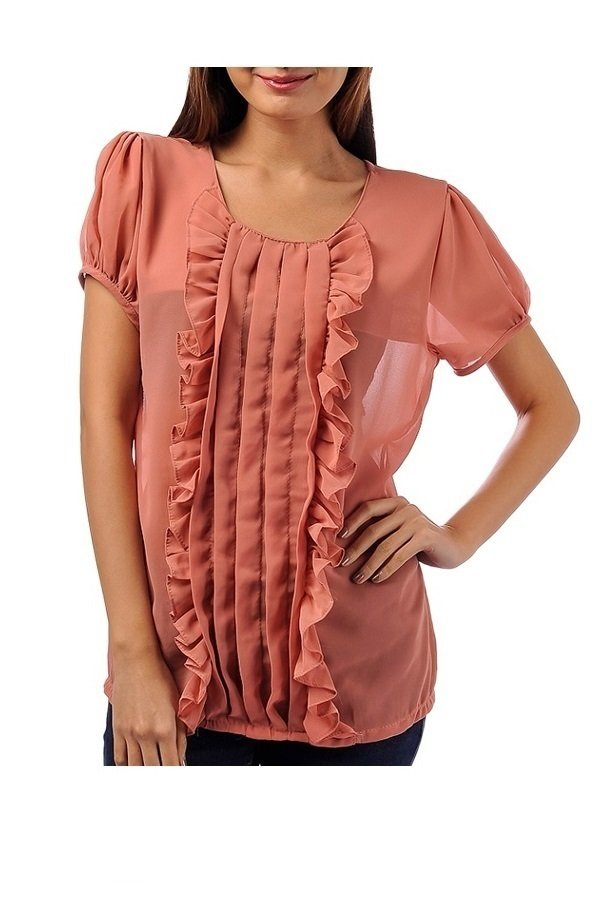 Terrie Wink Blouse (Mocca)
