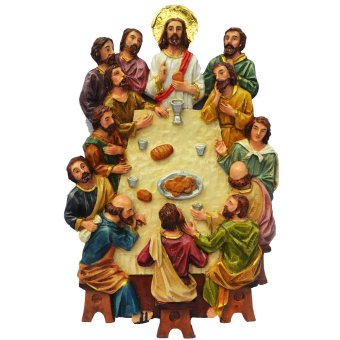 The Last Supper 3D (Jesus Christ with the 12 apostles) Plaque / Wall décor (Made of Fiberglass Resin) Religious Item by Everything About Santa (Christmas decoration and Gift suggestion)