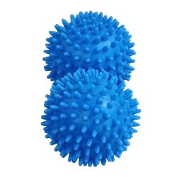 The Natural Way to Soften Fabrics Dryer Balls Set of 2 (blue)