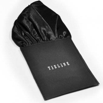 Tieline 4 Point Pocket Square with Board Insert (Black) - picture 2