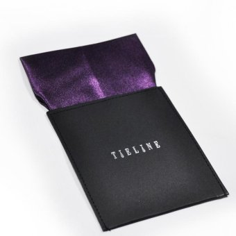 Tieline Flat Pocket Square with Board Insert (Purple)