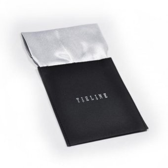 Tieline Flat Pocket Square with Board Insert (Silver) - picture 2