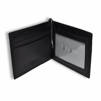 Tieline Money Clip Leather Wallet (Black)