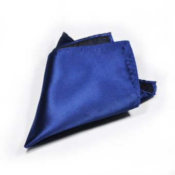 Tieline Navy Pocket Square