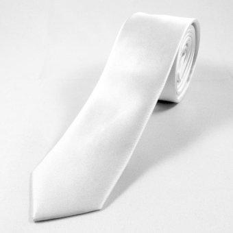 Tieline Slim Microfiber Solid Necktie (White)