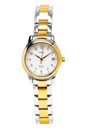 Timex Women's Gold/Silver Stainless Steel Strap Watch T25771