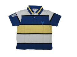 Toddler's Polo Shirt No.6012-stripe B (Blue)
