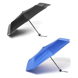 Tokio Auto Open-Close Umbrella Set of 2 (Black/Navy Blue)